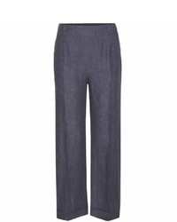 Loro Piana Mansel Cropped Linen Trousers