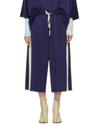 Maison Margiela Navy Jersey Culottes