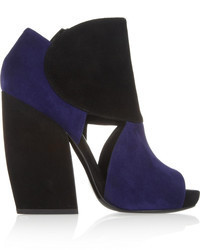 Two tone suede ankle boots medium 103704