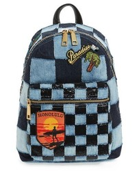 Denim biker backpack blue medium 1125427