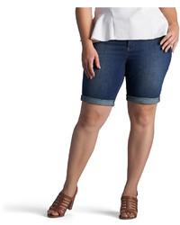 Lee 9 12 Modern Fit Denim Bermuda Shorts Plus