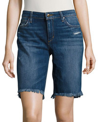 Joe's Jeans Frayed Step Hem Denim Bermuda Shorts