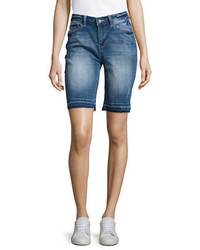 Kensie Jeans Skinny Fit Denim Bermuda Shorts