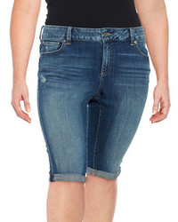 Lucky Brand Plus Denim Bermuda Shorts