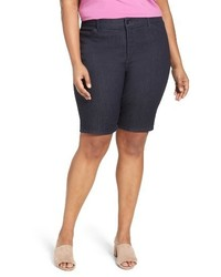 NYDJ Plus Size Christy Stretch Denim Bermuda Shorts