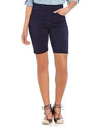Intro Sheri Pintuck Pull On Denim Bermuda Shorts
