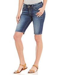 Silver Jeans Co Elyse Super Stretch Denim Bermuda Shorts