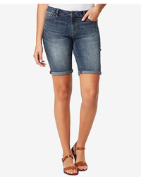 Vintage America Boho Denim Bermuda Shorts