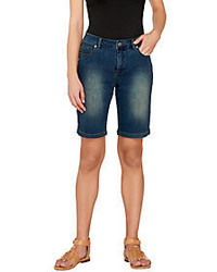With control washed denim bermuda shorts medium 3800392