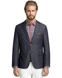 Brooks brothers washed denim sport coat medium 47617