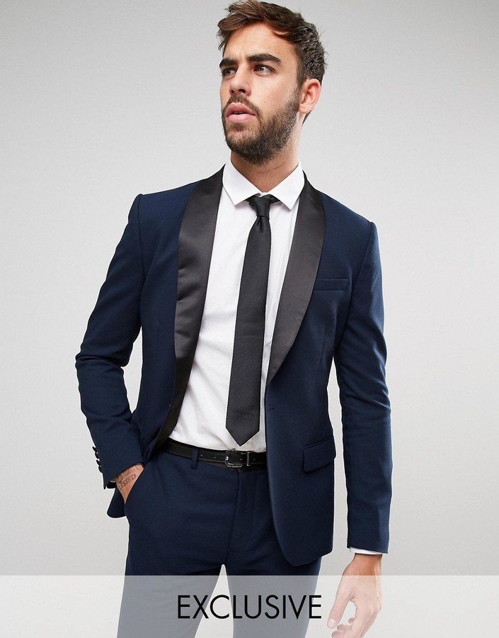 ONLY \u0026 SONS Super Skinny Tuxedo Suit