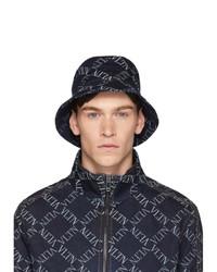 Valentino Indigo Vltn Grid Bucket Hat