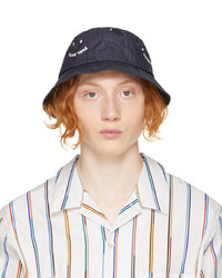 Ps By Paul Smith Navy Denim Ps Smile Bucket Hat