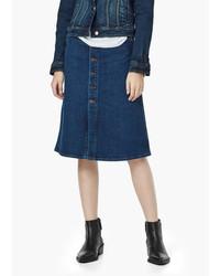 Mango Outlet Buttoned Denim Skirt