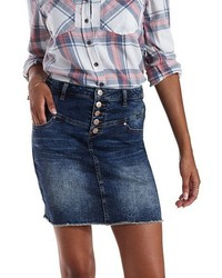 Charlotte Russe Refuge Denim Mini Skirt