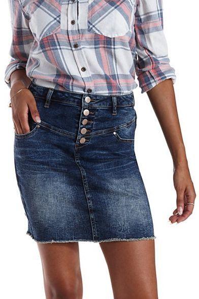 Charlotte Russe Refuge Denim Mini Skirt