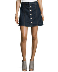 AG Adriano Goldschmied The Kety Button Front Denim Skirt Lonestar