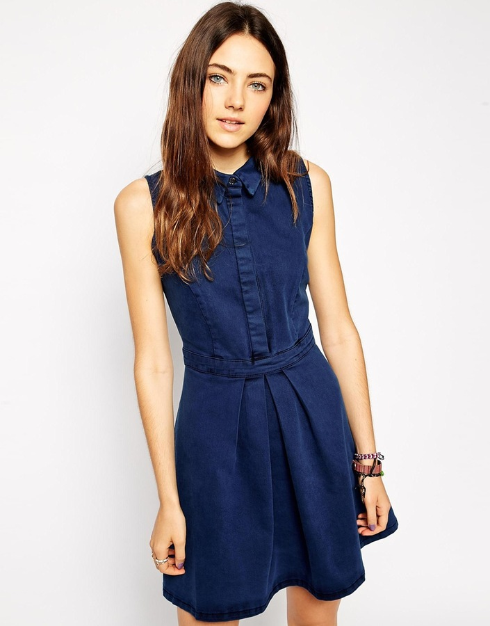 sleeveless denim dresses