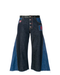 Sonia Rykiel Contrast Flared Cropped Jeans