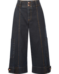See by Chloe Cropped High Rise Wide Leg Jeans