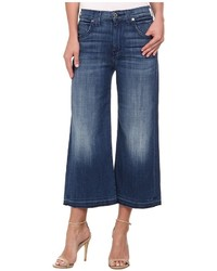 7 For All Mankind Culotte W Let Down Hem In Medium Broken Twill