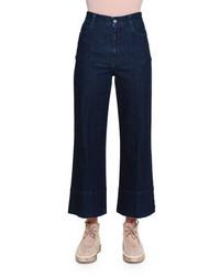 High waist culotte jeans dark blue medium 694530