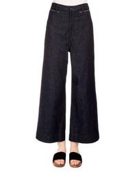 Proenza Schouler High Waist Wide Leg Ankle Pants Indigo