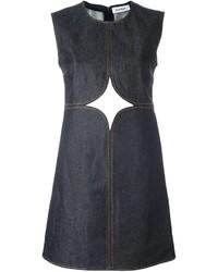 Courreges Courrges Cut Off Detailing Denim Dress