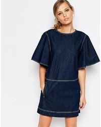 See by Chloe Denim Flutter Sleeve Dress