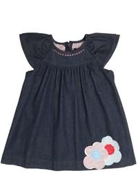 fe-fe Stretch Light Cotton Denim Dress