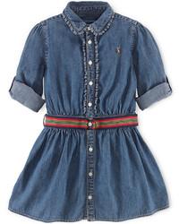 Ralph Lauren Little Girls Denim Shirtdress