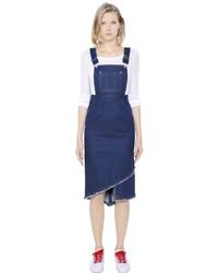 SteveJ & YoniP Cotton Denim Overall Dress