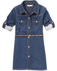 Joe Fresh Toddler Girls Denim Dress Dark Blue