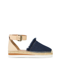 See by Chloe See By Chlo Frayed Denim Espadrilles
