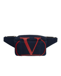 Valentino Blue Garavani Denim Vlogo Belt Bag