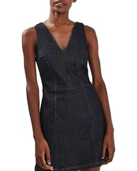 Topshop Denim Fit Flare Dress