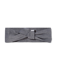 Maison Michel Calie Knotted Denim Headband