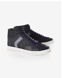 Express Denim High Top Sneakers