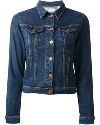how to wear a navy denim jacket 154 looks women 39 s fashion. Black Bedroom Furniture Sets. Home Design Ideas