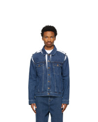 Y/Project Blue Denim Classic Peep Show Jacket