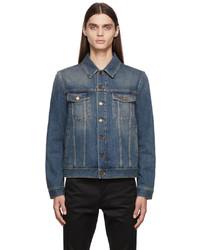 Saint Laurent Blue Denim Classic Vintage Jacket