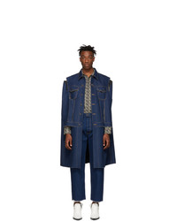 Maison Margiela Blue Denim Cut Out Jacket