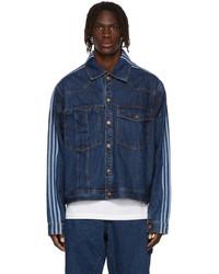 adidas x IVY PARK Blue Denim Monogram Jacket