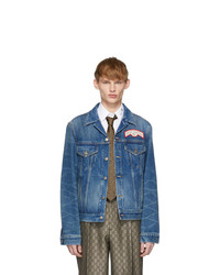 Gucci Blue Denim Oversize Patches Jacket