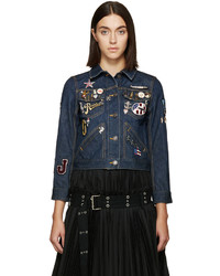 Marc Jacobs Blue Shrunken Denim Jacket