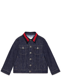 Gucci Childrens Denim Jacket With Web