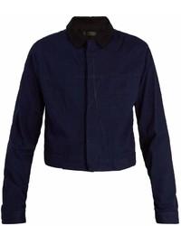 Haider Ackermann Contrast Collar Cropped Denim Jacket