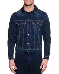 Stefano Ricci Contrast Stitch Denim Jacket