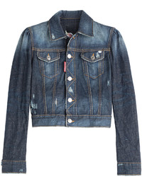 Dsquared2 Cropped Denim Jacket