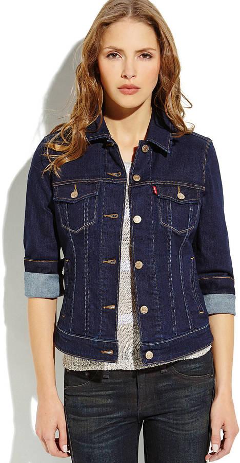 ... Levi s Dark Wash Classic Denim Jacket ... d5b42530a